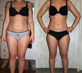 Before and after use 2 Chocolate Slim